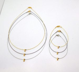 19KF1 - Necklace with Gold Plated Brass