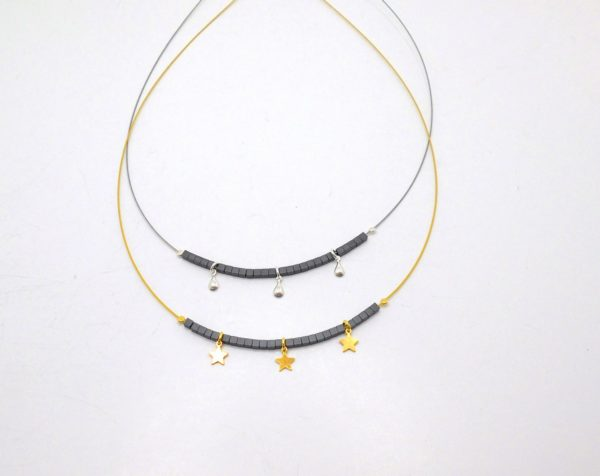 19KS18 - Necklace with Gold Plated Silver