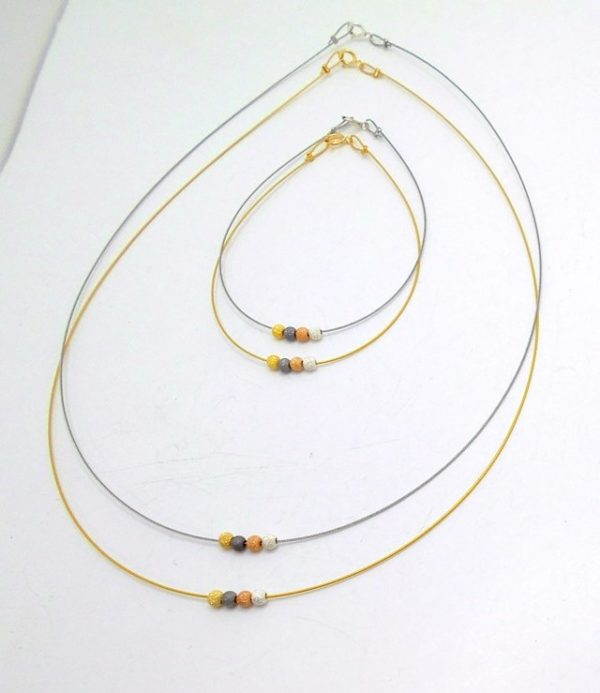 19KS7A - Necklace with Gold Plated Brass
