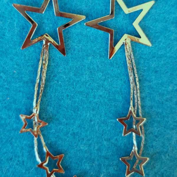 RW200720 - Long Star Earrings