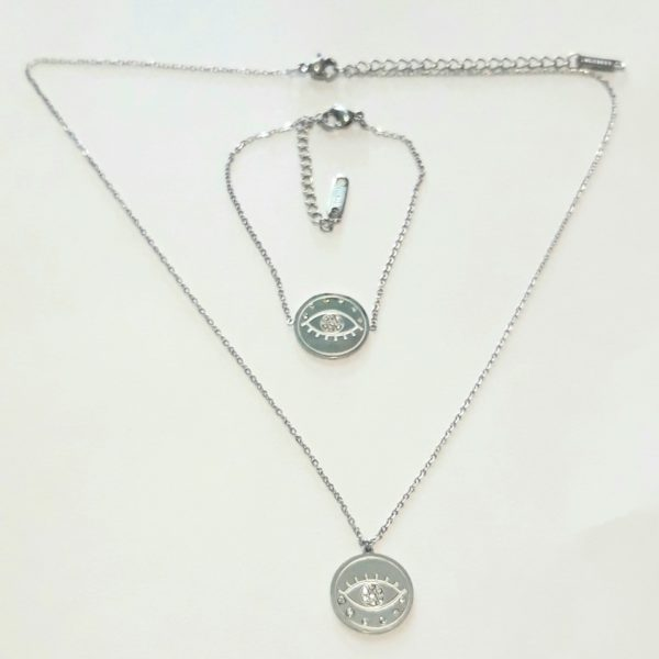 20KF139 - Necklace with Gold Platted Silver